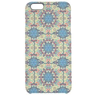 Capa Para iPhone 6 Plus Transparente Teste padrão floral étnico abstrato colorido de da