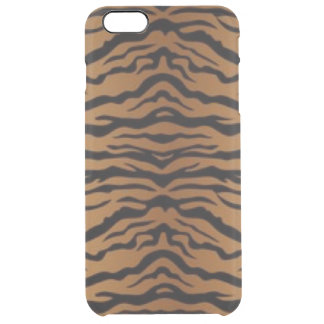 Capa Para iPhone 6 Plus Transparente Tigre preto de Brown