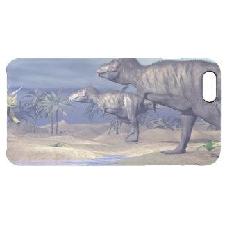 Capa Para iPhone 6 Plus Transparente Triceratops de ataque do tiranossauro - 3D rendem