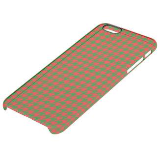 Capa Para iPhone 6 Plus Transparente Verificação vermelha e verde do Natal clássico de