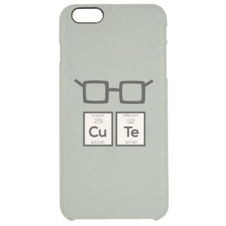 Capa Para iPhone 6 Plus Transparente Vidros bonitos Zwp34 do nerd do elemento químico