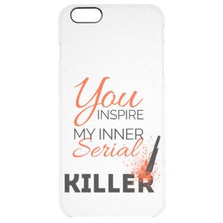 Capa Para iPhone 6 Plus Transparente Você inspira meu assassino em série interno