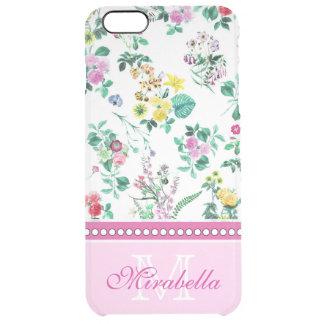 Capa Para iPhone 6 Plus Transparente Wildflowers & rosas amarelos vermelhos roxos
