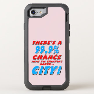 Capa Para iPhone 8/7 OtterBox Defender 99,9% CIDADE (preto)