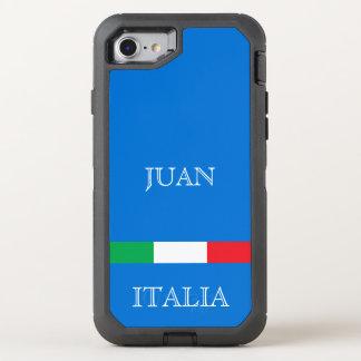Capa Para iPhone 8/7 OtterBox Defender A bandeira de Italia no oceano azul azure adiciona