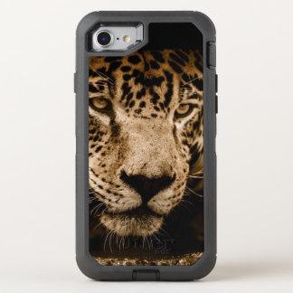 Capa Para iPhone 8/7 OtterBox Defender A cara do gato grande de animal selvagem de Jaguar