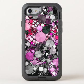 Capa Para iPhone 8/7 OtterBox Defender Abstrato cor-de-rosa feminino de Bling