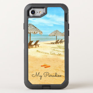 Capa Para iPhone 8/7 OtterBox Defender Água azul da cena tropical da praia