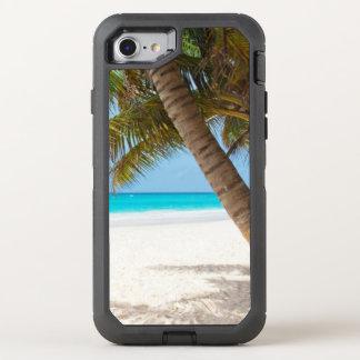 Capa Para iPhone 8/7 OtterBox Defender Água tropical de turquesa da palmeira da areia