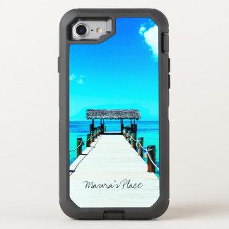 Capa Para iPhone 8/7 OtterBox Defender Água tropical de turquesa da praia