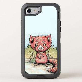 Capa Para iPhone 8/7 OtterBox Defender Animal bonito:  Panda vermelha