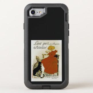 Capa Para iPhone 8/7 OtterBox Defender Anúncio francês do leite do vintage