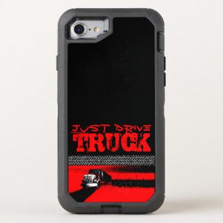Capa Para iPhone 8/7 OtterBox Defender APENAS caminhão da MOVIMENTAÇÃO: VERMELHO
