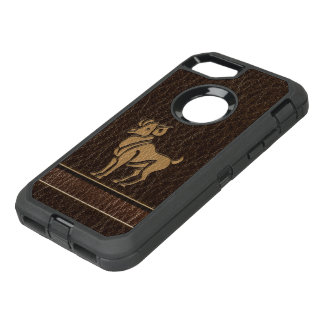 Capa Para iPhone 8/7 OtterBox Defender Aries do Couro-Olhar