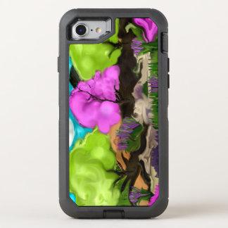Capa Para iPhone 8/7 OtterBox Defender Arte abstracta das árvores do algodão doce