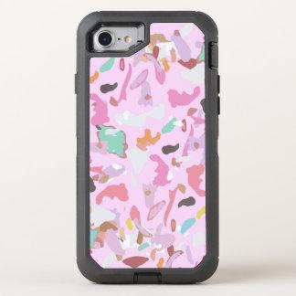 Capa Para iPhone 8/7 OtterBox Defender Arte abstrata moderna cor-de-rosa feminino de Camo