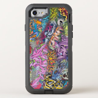 Capa Para iPhone 8/7 OtterBox Defender Arte colorida do design dos grafites