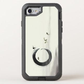 Capa Para iPhone 8/7 OtterBox Defender Arte da pintura da escova de Enso Koi do círculo