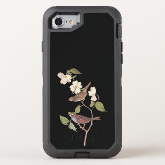 Capa Para iPhone 8/7 OtterBox Defender Arte Throated branca de Audubon do vintage do