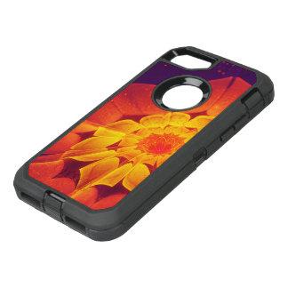 Capa Para iPhone 8/7 OtterBox Defender Azuis marinhos, vermelho, e margarida do Gerbera