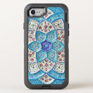 Capa Para iPhone 8/7 OtterBox Defender Azul de turquesa marroquino tradicional, branco,