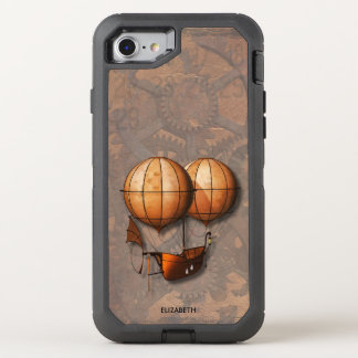 Capa Para iPhone 8/7 OtterBox Defender Balão de ar retro de Steampunk do vintage com