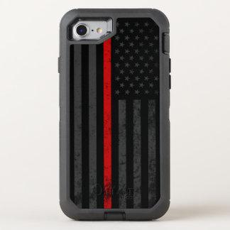 Capa Para iPhone 8/7 OtterBox Defender Bandeira afligida obscuridade do bombeiro
