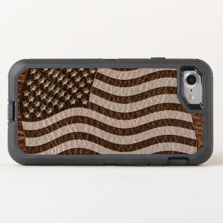 Capa Para iPhone 8/7 OtterBox Defender Bandeira dos EUA do Couro-Olhar