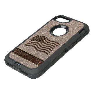 Capa Para iPhone 8/7 OtterBox Defender Bandeira dos EUA do Couro-Olhar macia