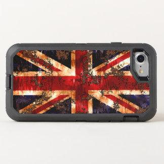 Capa Para iPhone 8/7 OtterBox Defender Bandeira patriótica oxidada de Reino Unido