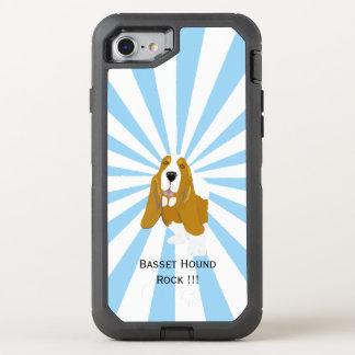 Capa Para iPhone 8/7 OtterBox Defender Basset Hound no starburst branco