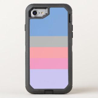 Capa Para iPhone 8/7 OtterBox Defender bloco roxo azul cinzento coral da cor do rosa