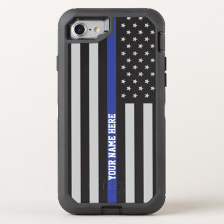 Capa Para iPhone 8/7 OtterBox Defender Blue Line fino - costume personalizado da bandeira