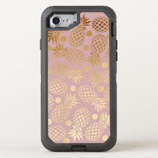 Capa Para iPhone 8/7 OtterBox Defender bolinhas elegantes do teste padrão do abacaxi do