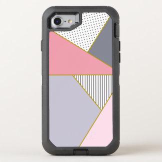 Capa Para iPhone 8/7 OtterBox Defender Bolinhas geométricas elegantes das listras pastel
