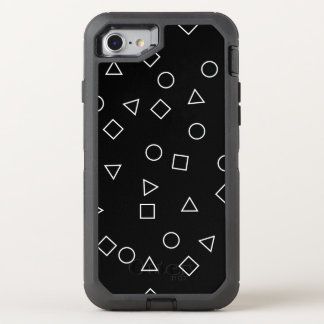 Capa Para iPhone 8/7 OtterBox Defender Branco geométrico minimalista elegante do preto do