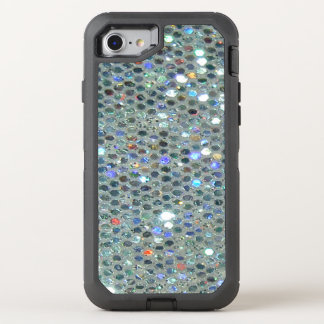 Capa Para iPhone 8/7 OtterBox Defender Brilho de prata Sparkly chamativo de Bling