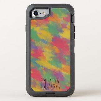 Capa Para iPhone 8/7 OtterBox Defender brushstrokes coloridos do estilo boémio do vintage