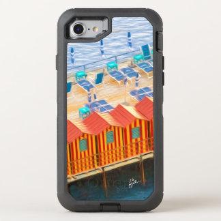 Capa Para iPhone 8/7 OtterBox Defender Cabanas chiques elegantes de Sorrento