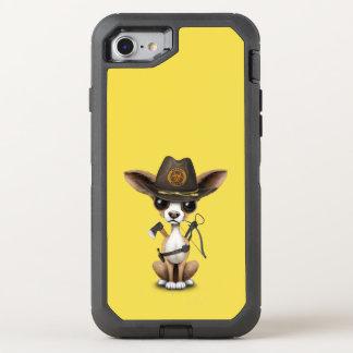 Capa Para iPhone 8/7 OtterBox Defender Caçador bonito do zombi do filhote de cachorro da