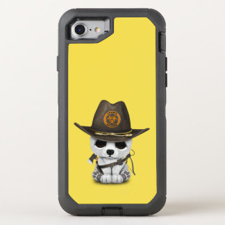 Capa Para iPhone 8/7 OtterBox Defender Caçador do zombi do urso polar do bebê
