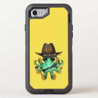 Capa Para iPhone 8/7 OtterBox Defender Caçador verde do zombi do polvo do bebê