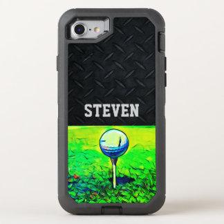 Capa Para iPhone 8/7 OtterBox Defender Caixa Golfing conhecida feita sob encomenda da