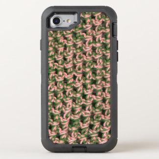 Capa Para iPhone 8/7 OtterBox Defender Camuflagem verde francesa das senhoras do Crochet