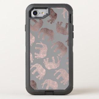 Capa Para iPhone 8/7 OtterBox Defender cancele o teste padrão tribal cor-de-rosa do