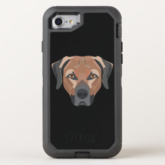Capa Para iPhone 8/7 OtterBox Defender Cão Brown Labrador da ilustração