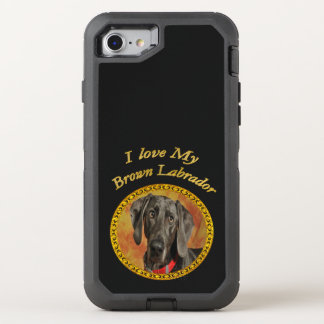 Capa Para iPhone 8/7 OtterBox Defender Cão de filhote de cachorro canino marrom de Elegan