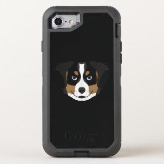 Capa Para iPhone 8/7 OtterBox Defender Cão de montanha de Bernese da ilustração