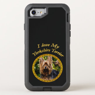 Capa Para iPhone 8/7 OtterBox Defender Cão pequeno do yorkshire terrier doce