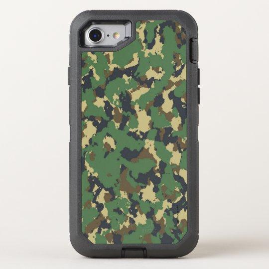 Capa Para iPhone 8/7 OtterBox Defender Capa  Camuflagem verde